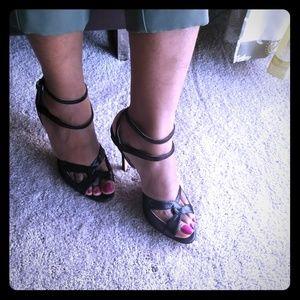 Sarah Flint Maggie heels black shimery